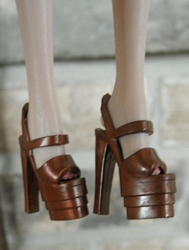 Open-Back/Toe Platform Heels